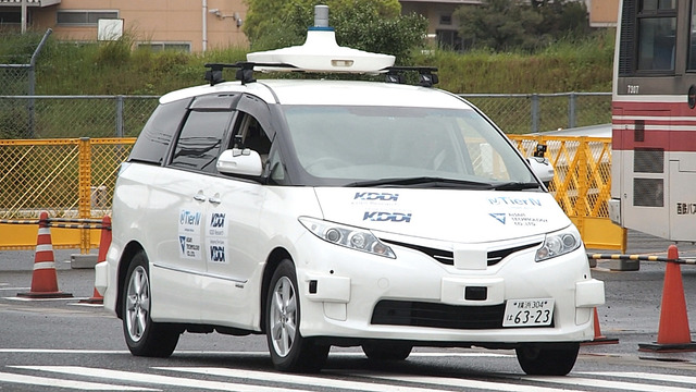 KDDIは7日、福岡県で自動運転(レベル4)のデモンストレーションを実施した