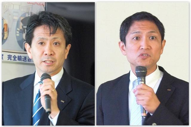 KDDI ビジネスIoT企画部 部長の原田圭悟氏(左)とKDDI総合研究所 執行役員 コネクティッドネットワーク部門 部門長の大谷朋広氏(右)