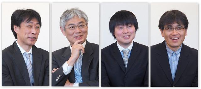 (左から)NHK報道局ネットワーク報道部 部長の近堂靖洋氏、同 専任部長の熊田安伸氏、放送技術研究所ヒューマンインターフェース研究部の栗原清氏、同 上級研究員の今井篤氏