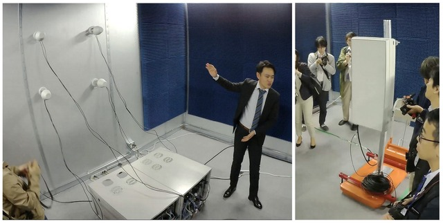 こちらはシールドルームの様子。部屋にはMassive-MIMOアンテナと5G端末を設置しており、4.74GHz帯の周波数を使った5G通信を試すことができる