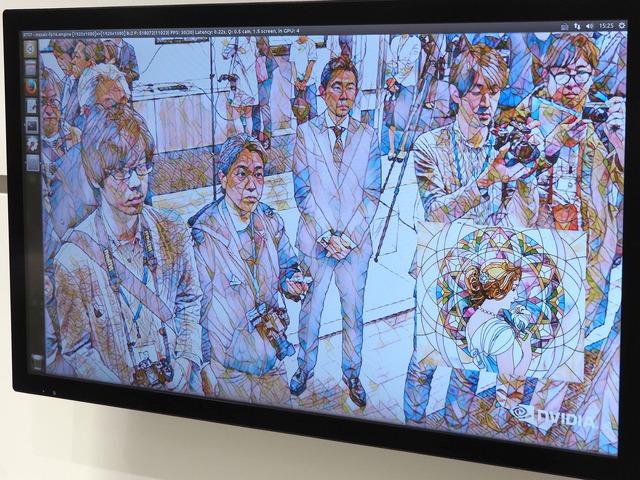 撮影中の高精細な映像にエフェクトをかけ続けることも可能。エンタメ用途のほか、一部をモザイク処理しなければならないケースなどにも活用できる
