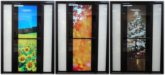 屋外の4K液晶のイメージ。用途に沿った高画質な映像を映すことができる
