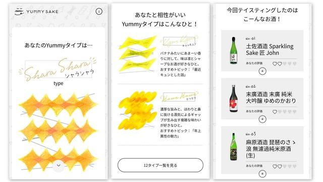 テイスティング評価を終えると、最適な日本酒が診断された。メールでも結果が届く