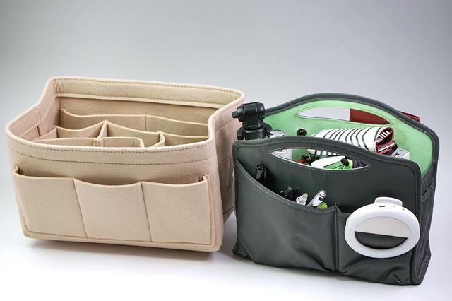 これまでのバッグインバッグの中身を入れ換えてみましょう