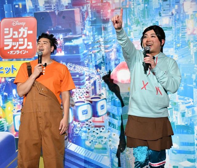 チョコレートプラネット・長田庄平と松尾駿【写真:竹内みちまろ】