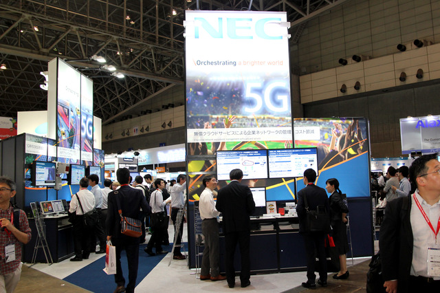 NECはInterop Tokyo 2018でローカル5Gについての展示を行った
