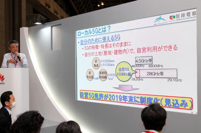 ローカル5Gは、まずは28GHz帯の中の100MHz幅で自営利用がスタートするという