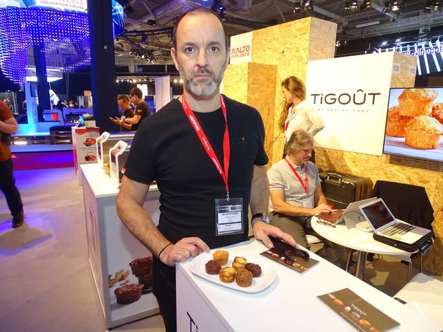 アルゼンチンのTigoutはインターネットにつなげて世界のお菓子が楽しめるスマートベーカリーを展示
