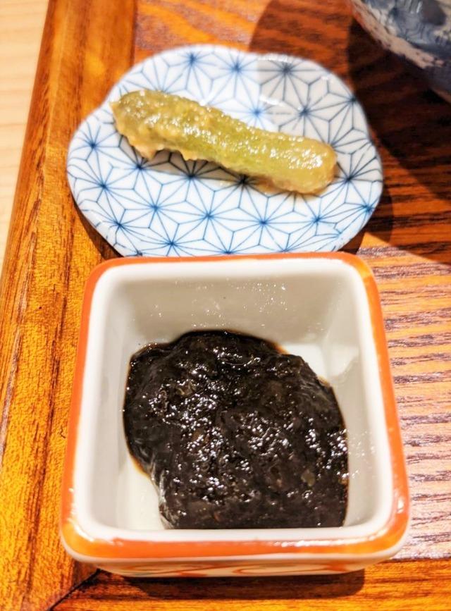 ご飯用のトッピング ノリの佃煮ときゅうりの漬物