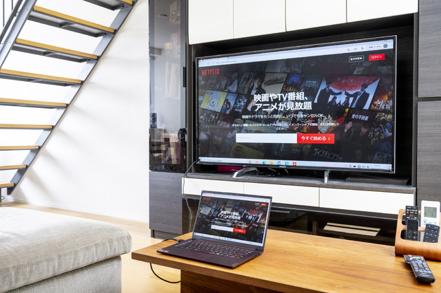 HDMIポートでテレビと接続
