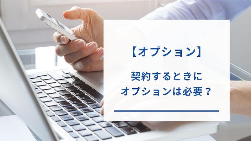 BIGLOBE WiMAXのオプション契約