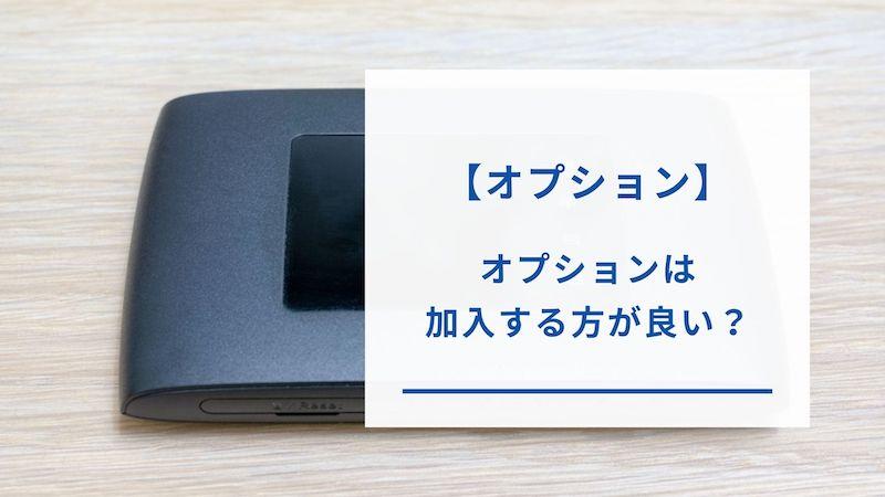 カシモWiMAXのオプションサービス
