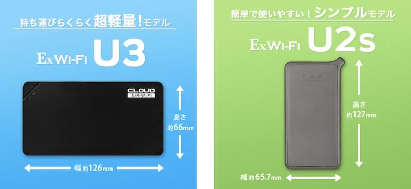 Ex Wi-Fi CLOUDのルーター端末