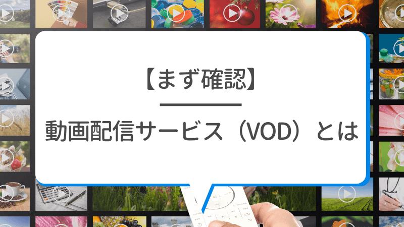 そもそも動画配信サービス(VOD)とは?