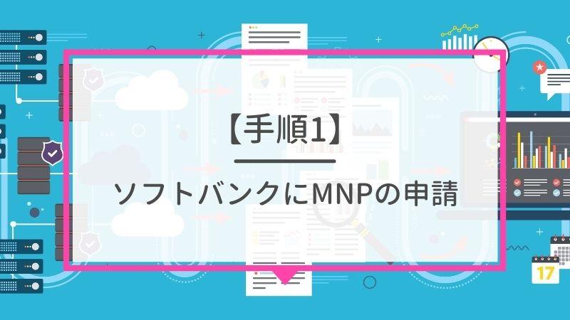 ソフトバンクにMNPの申請