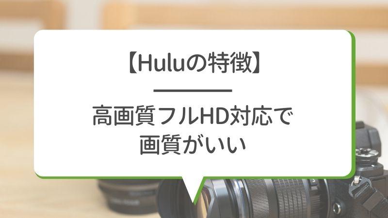 【Huluの特徴】高画質フルHD対応で画質がいい