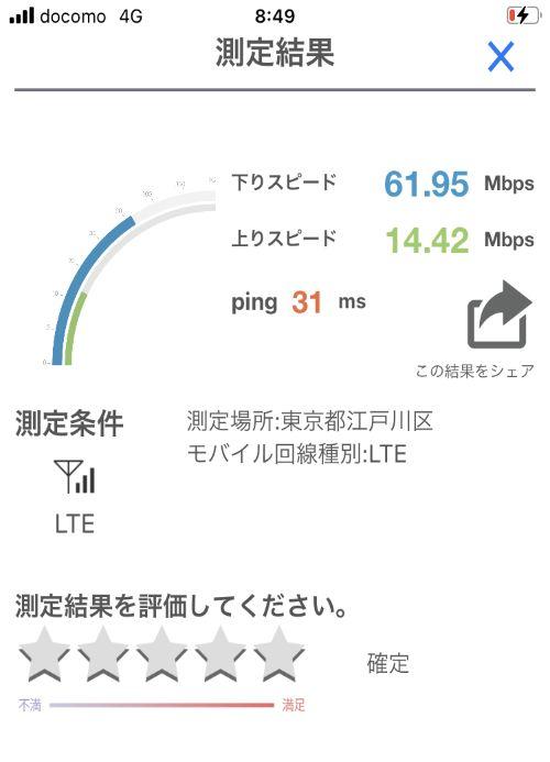 【y.u mobileの時間帯別の通信速度比較】朝の通信速度