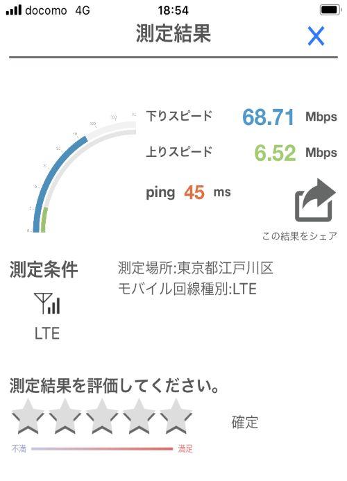 【y.u mobileの時間帯別の通信速度比較】夜の通信速度