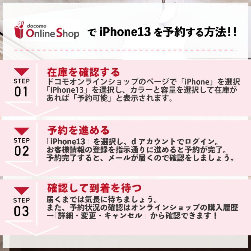 【図解・画像で解説】iPhone13をドコモで予約する手順