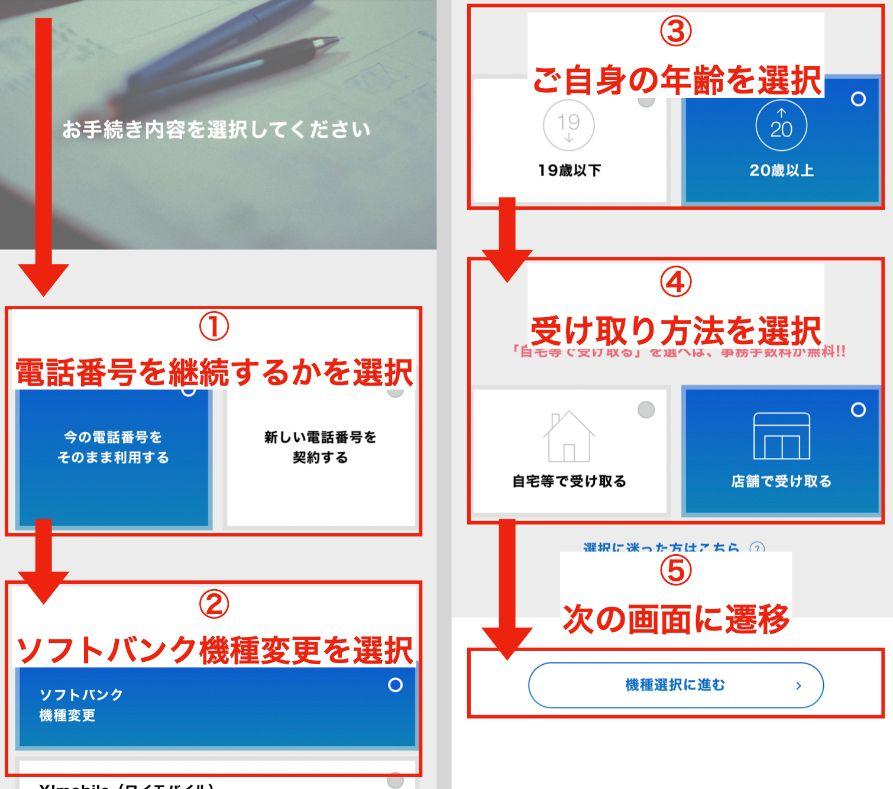 ソフトバンクのiPhone13の購入手順3